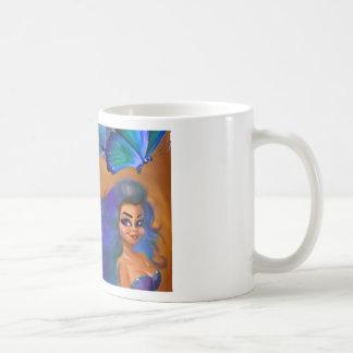 butterfly girl basic white mug