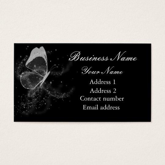 Butterfly & Glitter Business Card