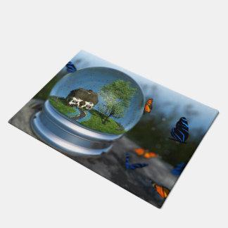 Butterfly Globe Doormat