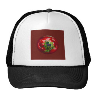 Butterfly Globe with red berries. Cap