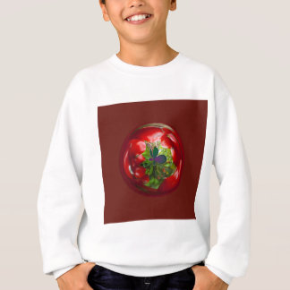 Butterfly Globe with red berries. Sweatshirt