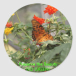 Butterfly - GO GREEN! Stickers