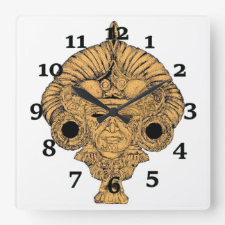Butterfly God Square Wall Clock