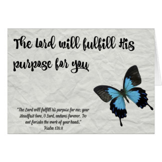 Butterfly Graduation Card-The Lord's Purpose Card