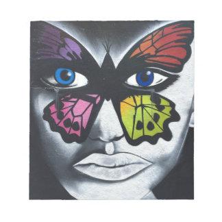 Butterfly graffiti notepad