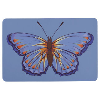 BUTTERFLY GRAPHIC FLOOR MAT