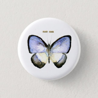 Butterfly: Green-Banded Blue 3 Cm Round Badge