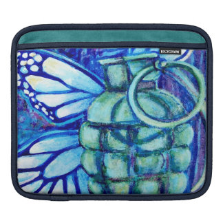 Butterfly Grenade, Fine Art  Sleeve For the ipad iPad Sleeves