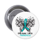 Butterfly Gynaecologic Cancer Awareness Pinback Button
