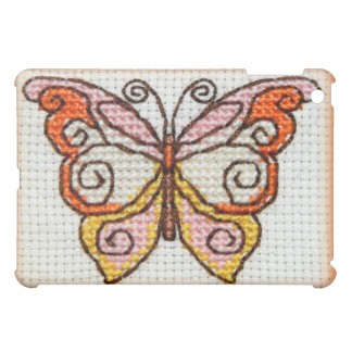 Butterfly hand embroidery cross stitch iPad mini cover