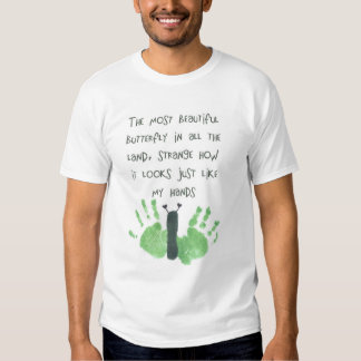 butterfly hand prints tshirts