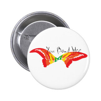 Butterfly Handwriting 6 Cm Round Badge