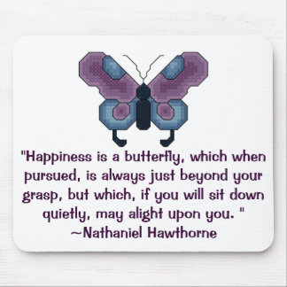 Butterfly Happiness is a butterfly which whe Mouse Pad