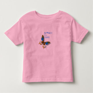 Butterfly Happiness is a Choice Toddler Tee