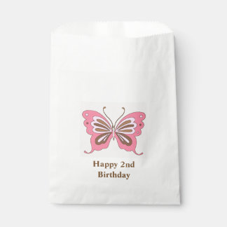 Butterfly Happy Birthday Custom Age Favour Bags