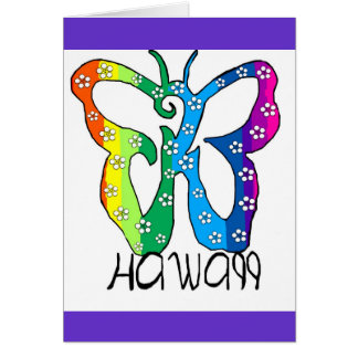 Butterfly Hawaii saying Card