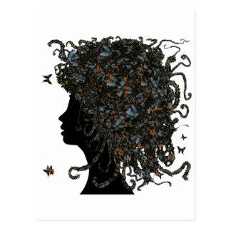 Butterfly head postcard