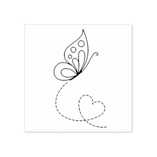 Butterfly Heart - Color Me Rubber Stamp