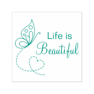 Butterfly Heart - Life is Beautiful Self-inking Stamp