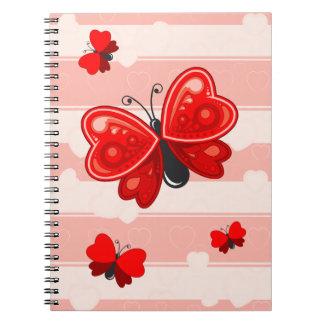 butterfly heart notebook
