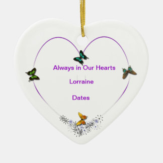 Butterfly Heart Personalized Ornament
