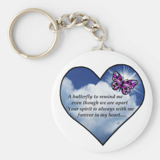 Butterfly Heart Poem Key Ring
