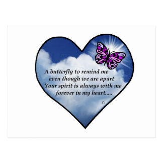 Butterfly Heart Poem Postcard