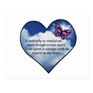 Butterfly Heart Poem Postcard