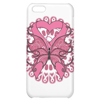 Butterfly Heart Ribbon - Breast Cancer iPhone 5C Cover