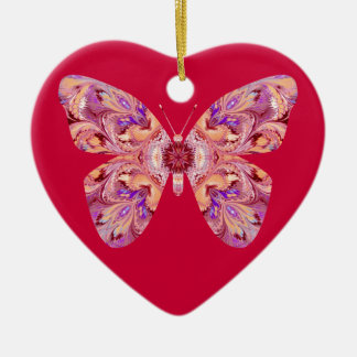 Butterfly Heart Shaped Ornament