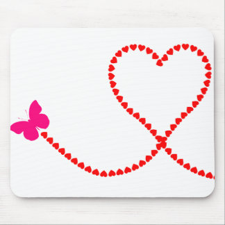 butterfly hearts mouse mat