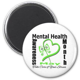 Butterfly Heartt - Mental Health Awareness Month Fridge Magnets