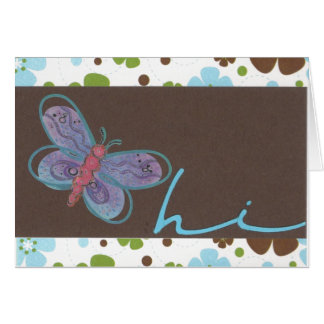 Butterfly Hi Notecard