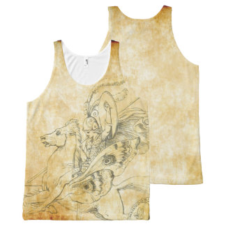 butterfly horse warrior All-Over print tank top
