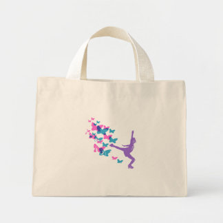 Butterfly Ice Skater Mini Tote Bag