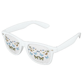 Butterfly image for Adult-Party-Shades-White Retro Sunglasses