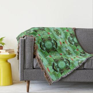 Butterfly in a Garden Throw Blanket
