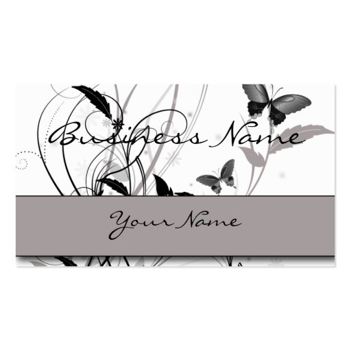 Butterfly in Black and Grey Business Card