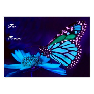 Butterfly in Blue Light Gift Tag Pack Of Chubby Business Cards