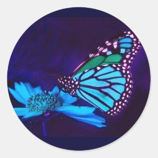 Butterfly in Blue Light Sticker