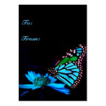 Butterfly in Blue Light -Vertical Gift Tag Pack Of Chubby Business Cards