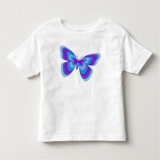 Butterfly in blue & purple t shirt