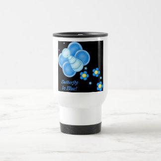 Butterfly In Blue! Travel Mug Stainless Steel Travel Mug