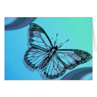 Butterfly in Blues Greeting Card