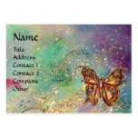 BUTTERFLY IN GOLD AND BLUE GREEN SPARKLES,teal Pack Of Chubby Business Cards