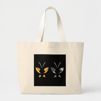 Butterfly in gold and silver colors bag