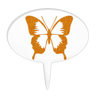 Butterfly in Gold Metallic Cake Toppers