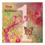 BUTTERFLY IN GOLD SPARKLES 2  First Birthday Party