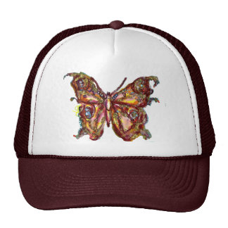 BUTTERFLY IN GOLD SPARKLES CAP