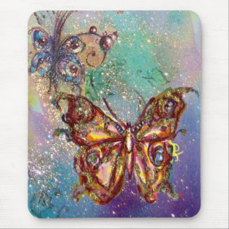 BUTTERFLY IN GOLD SPARKLES MOUSEPAD